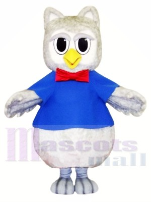Mignonne Gris Hibou Costumes De Mascotte