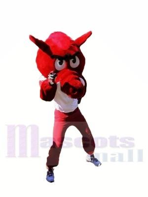 rouge Razorbacks Mascotte Les costumes Animal