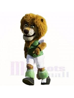 vert Football Lion Costumes De Mascotte Dessin animé