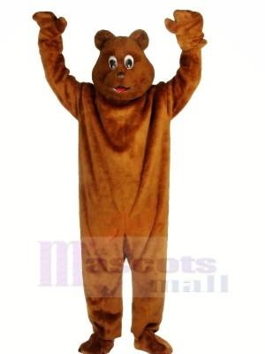 Réaliste marron Ours Mascotte Les costumes Adulte