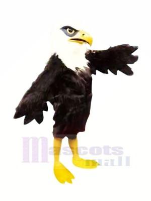 Velu Noir Aigle Mascotte Les costumes