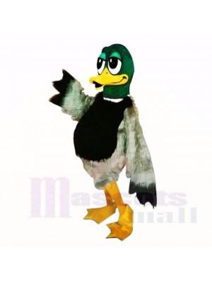 vert Velu canard Costumes De Mascotte Dessin animé