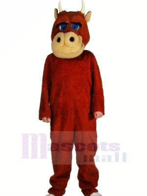 Fort marron Taureau Mascotte Costume Adulte