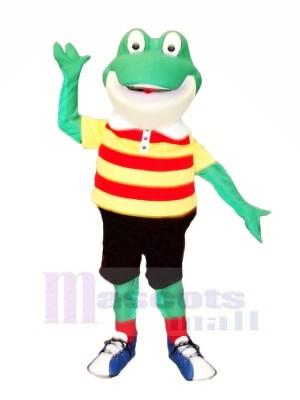Souriant La grenouille Mascotte Les costumes Dessin animé