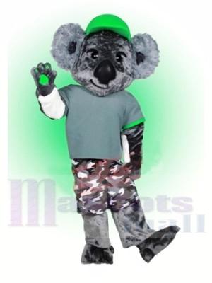 Koala avec vert Chapeau Mascotte Les costumes Animal