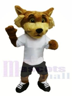 Renard avec blanc T-shirt Mascotte Les costumes Animal