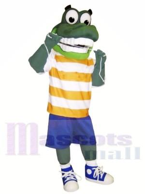 vert Gator avec Gros Les yeux Mascotte Les costumes Animal