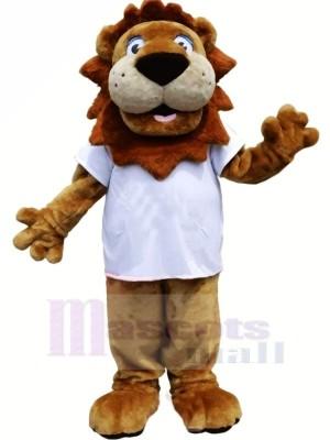 Mignonne Fort Lion Mascotte Les costumes Dessin animé