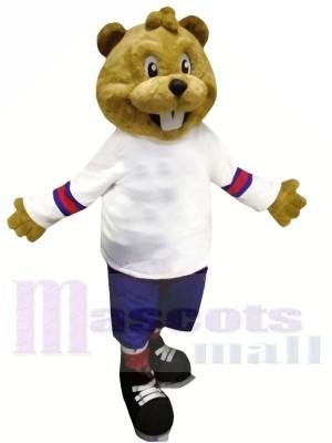 marron Castor avec Costume Mascotte Les costumes Animal