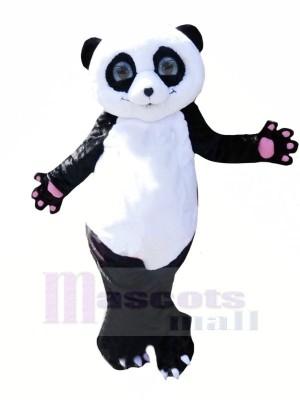 Mignonne Agréable Panda Mascotte Les costumes Pas cher