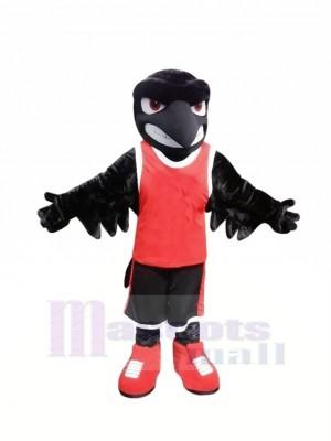 sport Noir Cheval Mascotte Les costumes Dessin animé
