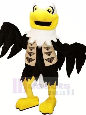 Noir Aigle Mascotte Les costumes Adulte