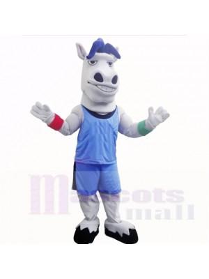 sport Poids léger Cheval avec Bleu Chemise Costumes De Mascotte École