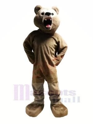 Grisonnant Ours Mascotte Les costumes Adulte