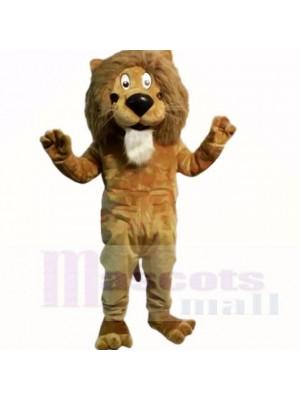 marron Amical Poids léger Lion Costumes De Mascotte Dessin animé