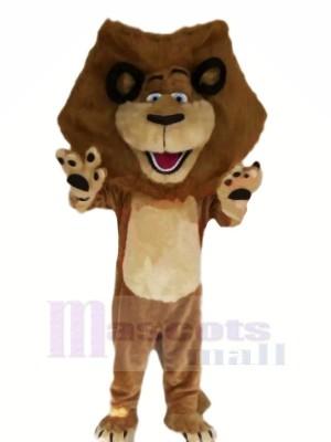 Heureux marron Lion Mascotte Les costumes Pas cher