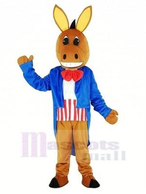 Patriotique Âne Mascotte Costume Animal