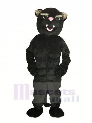 Noir Muscle Panthère Mascotte Costume