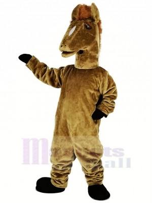 marron Mustang Mascotte Costume Animal