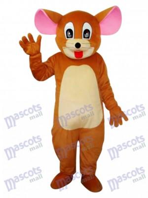 Peu Tête Jerry Rat Mascotte Adulte Costume Dessin animé Anime