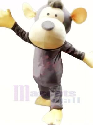 Charmant gris Singe Mascotte Les costumes Pas cher