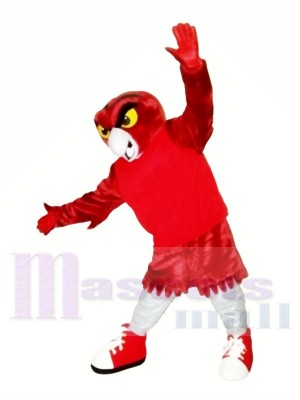 Fort rouge Hibou Mascotte Les costumes Animal