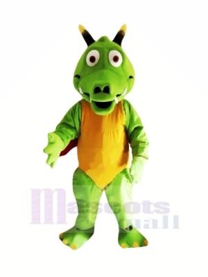 Poids léger vert Dragon Mascotte Les costumes Dessin animé
