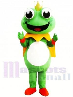 Dessin animé Roi La grenouille Mascotte Les costumes