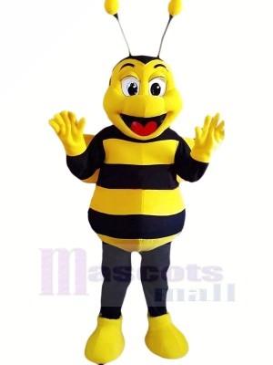 Heureux abeille Mascotte Les costumes Pas cher