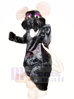 Amical Noir Rat Mascotte Les costumes Pas cher