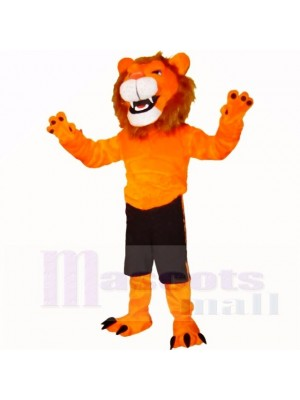 Orange Glorieux Lion Costumes De Mascotte Adulte