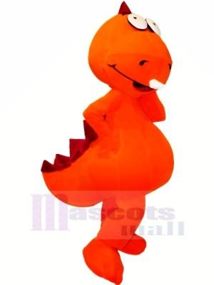 Drôle Orange Dragon Mascotte Les costumes Dessin animé