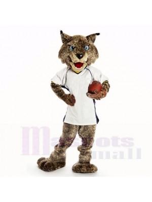 Bobcats de sport avec une chemise blanche mascotte costumes