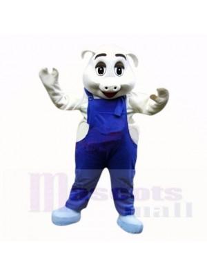 sport Porc avec Bleu Salopette Costumes De Mascotte École