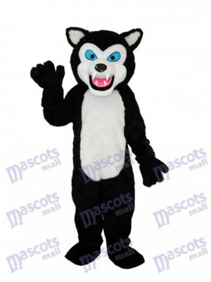 Loup noir Adulte Mascotte Costume Animal