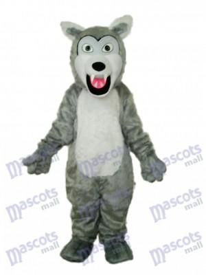 Petit Gris aux cheveux longs Loup Mascotte Costume adulte Animal