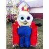 Moi, moche et méchant Despicable Me Minions Costume de mascotte de roi Bob avec cape déguisement Outfit