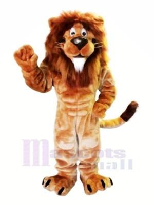 marron Lion avec blanc Barbe Mascotte Les costumes