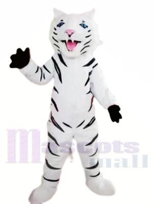 Tigre blanc féroce Costumes De Mascotte