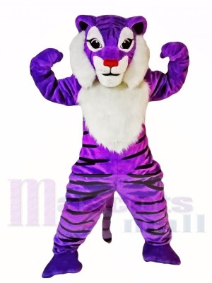 Tigre pourpre Costumes De Mascotte