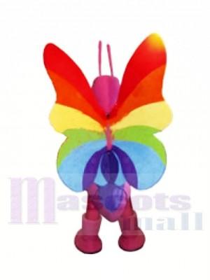 Coloré Papillon Mascotte Les costumes Animal