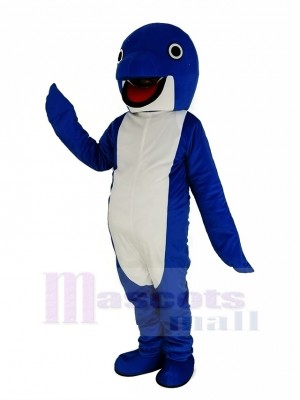 Mignonne Bleu Baleine Costume Mascotte Animal