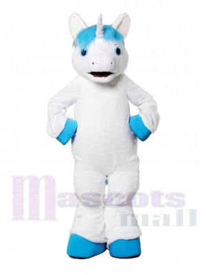 Licorne à la crinière bleue Costume de mascotte