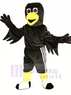 Noir Oiseau Corbeau Mascotte Costume Animal