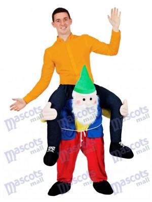 Retour Épaule Jardin Gnome Portez-moi Mascotte Ride Costume Stag Déguisement Noël Tenue drôle