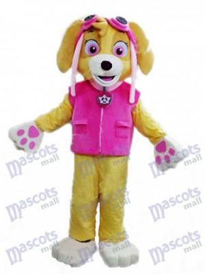 La Pat' Patrouill Stella Paw Patrol Skye Costume de mascotte de chien