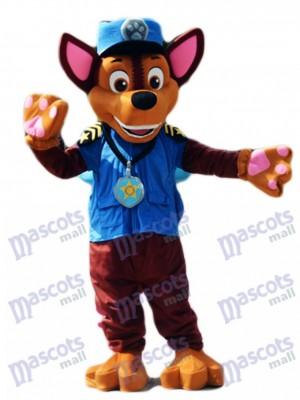 La Pat' Patrouill Paw Patrol Chase chien mascotte berger allemand chiot police et le trafic cop chien costume