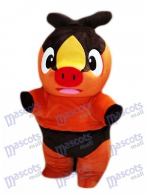 Tepig Pokabu Fire Cochon Pokémon Go Costume de mascotte