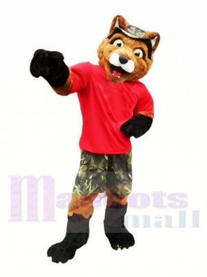 Renard avec rouge T-shirt Mascotte Les costumes Animal