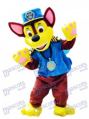 La Pat' Patrouill Paw Patrol Chase chien mascotte allemand berger chiot chien espion costume